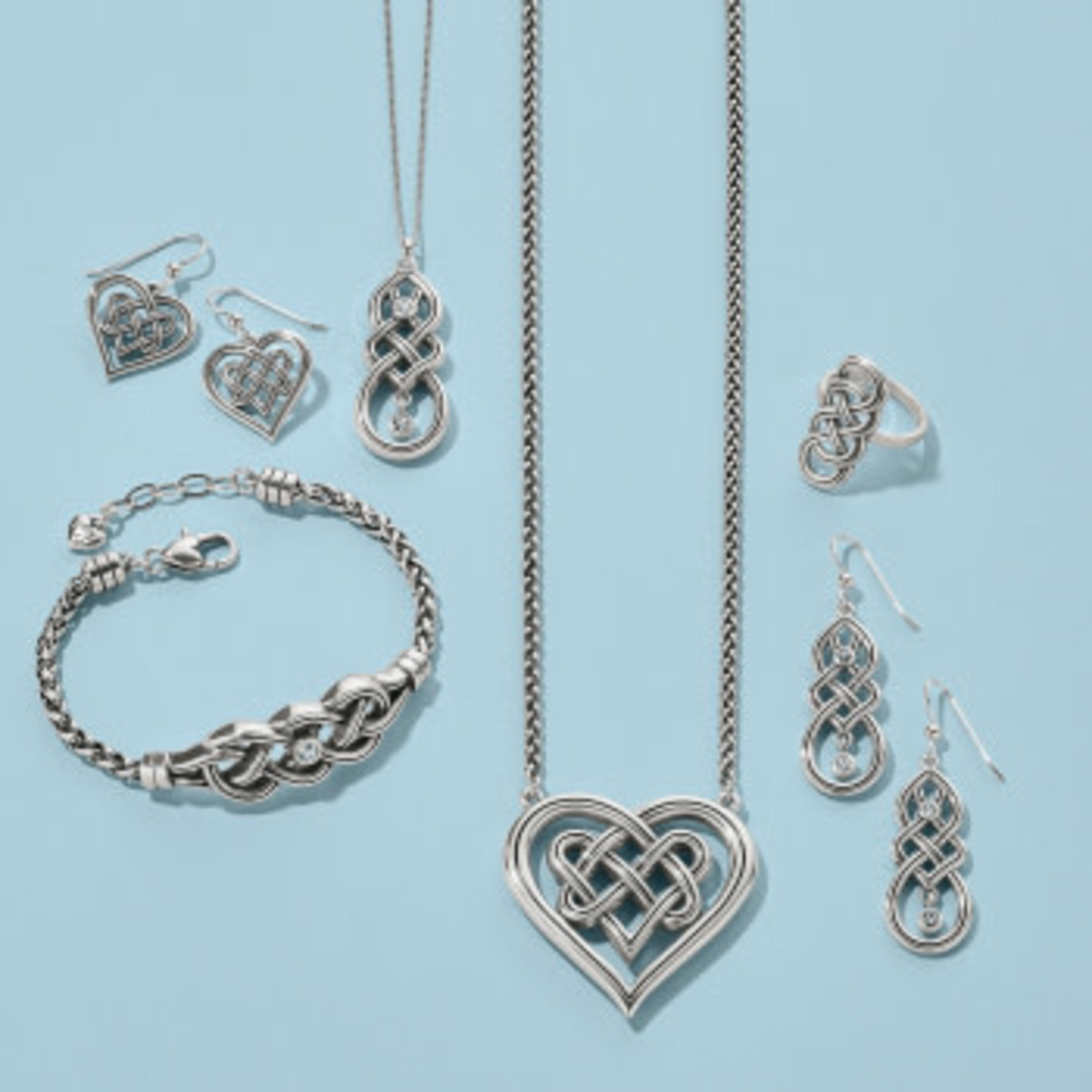 Brighton Interlok Crossing Hearts Necklace
