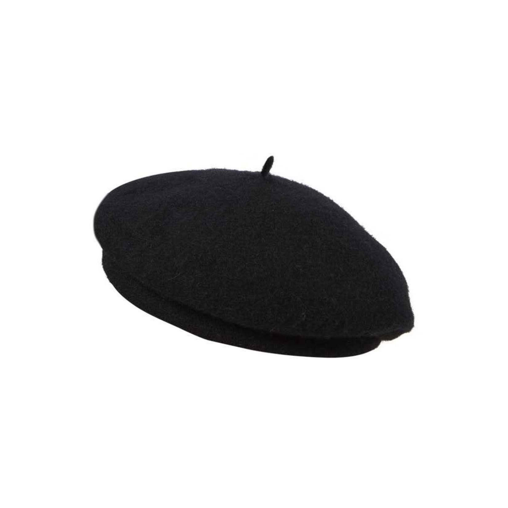 Kooringal Harlow 100% Wool Beret in Black
