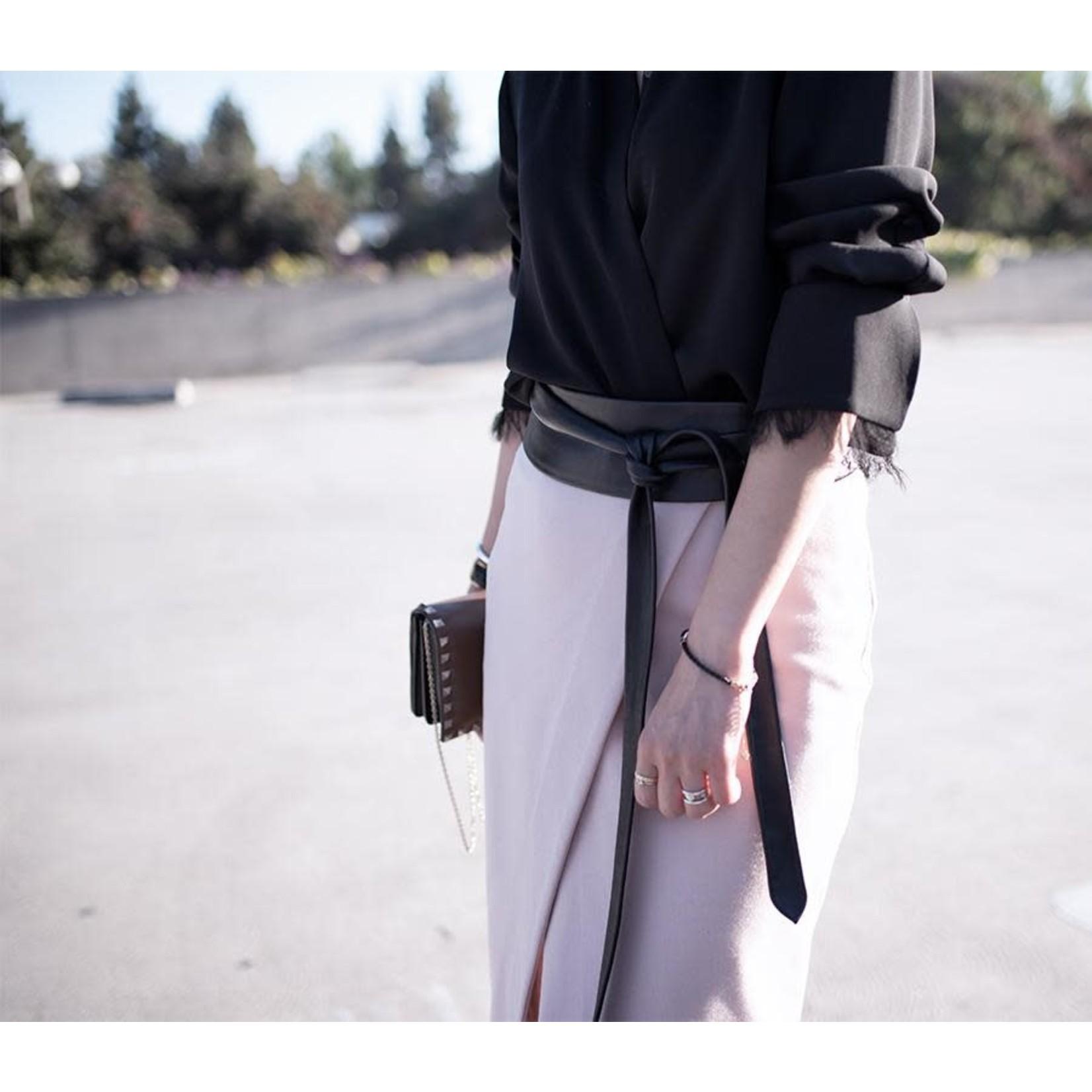 ADA Original Leather Wrap Belt in Black