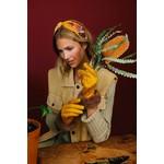 Powder Bettina Faux Suede/Faux Fur Gloves in Mustard/Mink