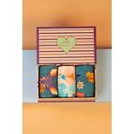 Powder Boxed Set of Socks in Floral/Deer