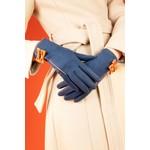 Powder Doris Faux Suede/Bow Gloves in Navy