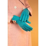 Powder Doris Faux Suede/Bow Gloves in Teal