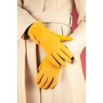 Powder Grace Brushed Faux Fur Gloves in Mustard