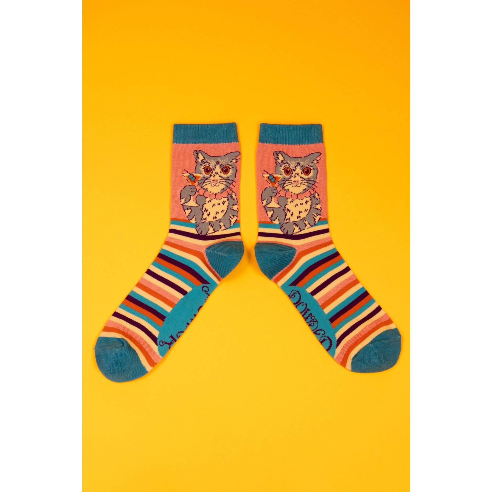 Powder Cocktail Pussy Ankle Socks in Candy