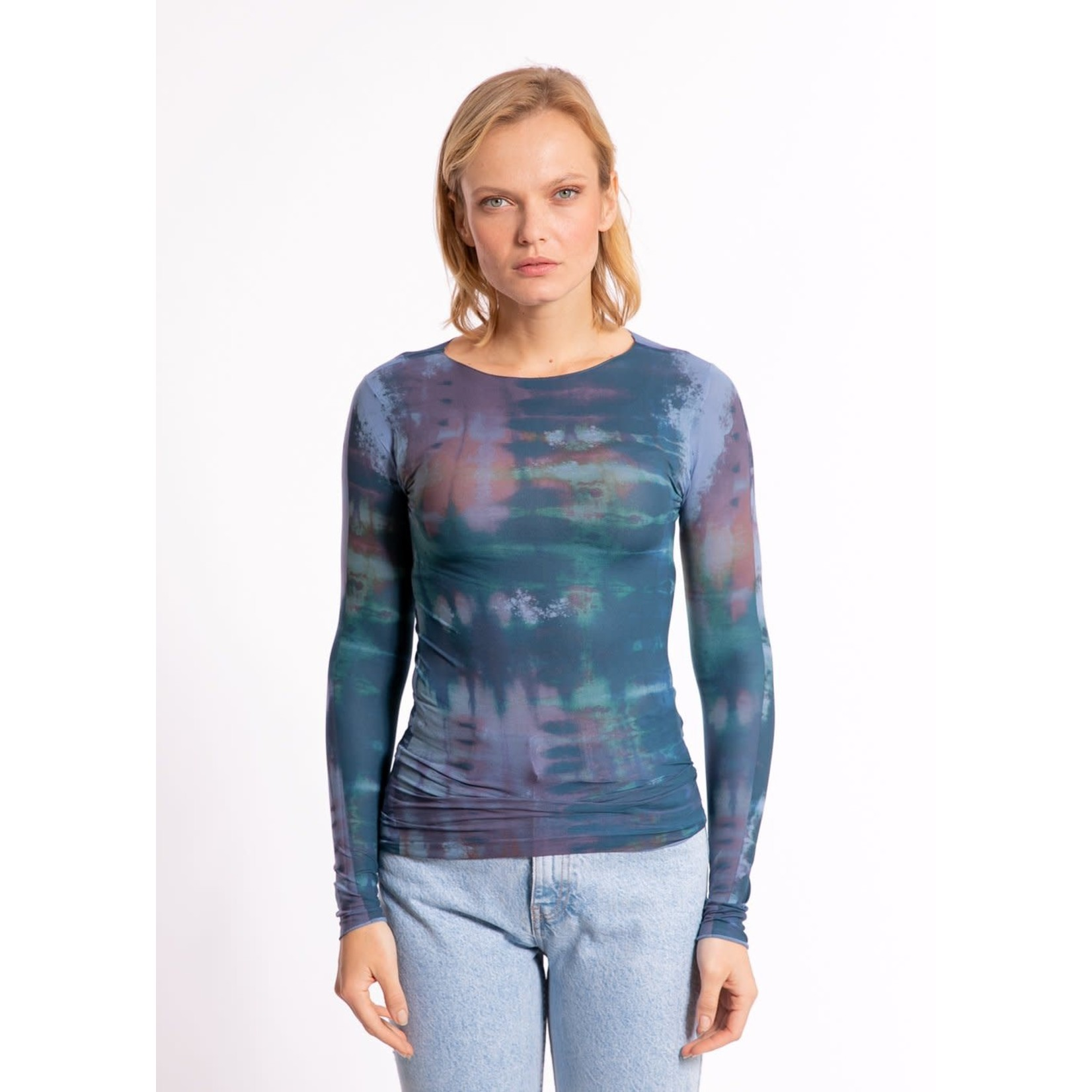 AMB Designs International Gaia Second Skin Raw Edge in Cashmere Blue/OS