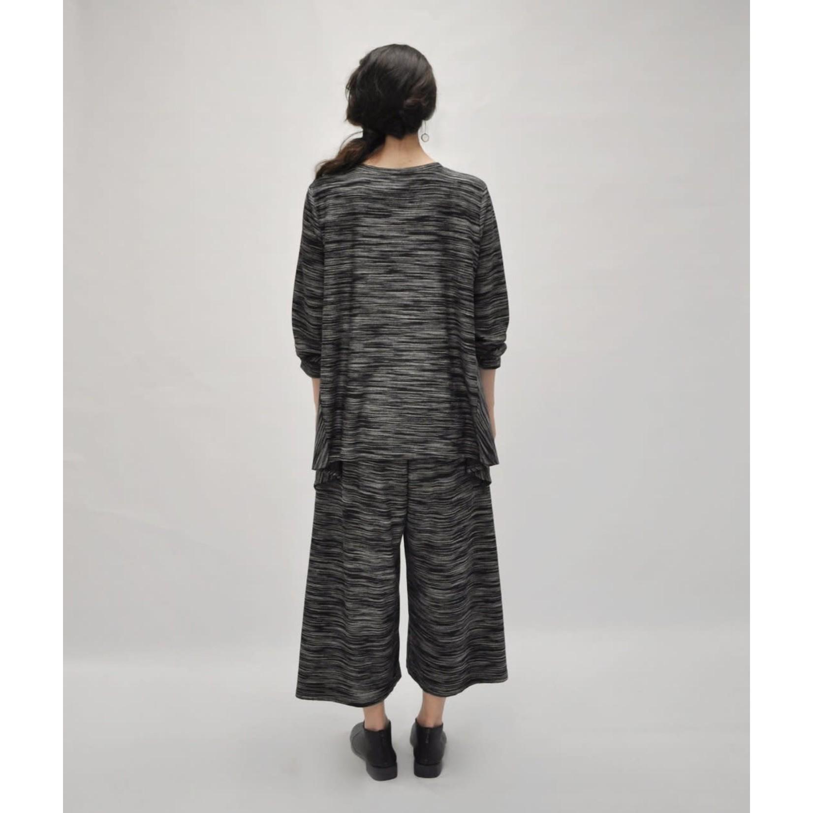 Niche Horizon Knit Triangle Top in Black Multi