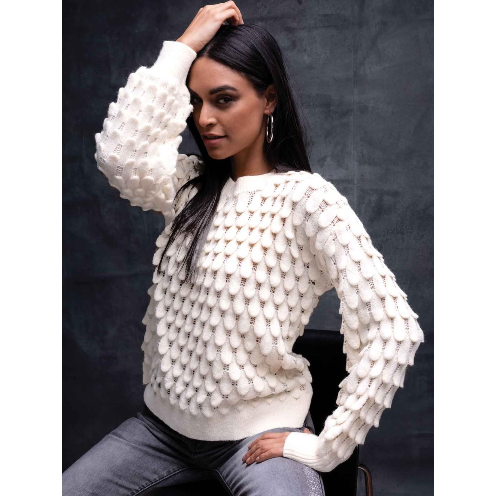 Elena Wang Teardrop Sweater in Off-White