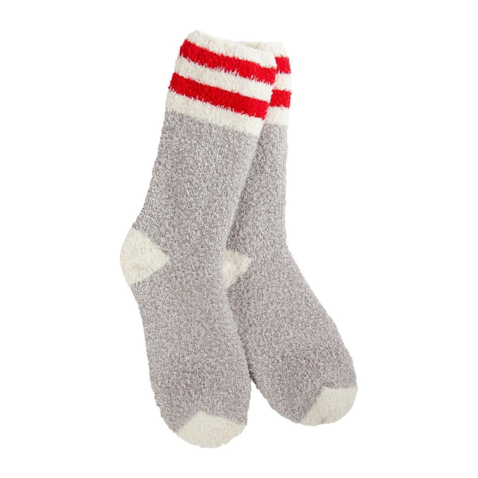 World's Softest Knit Pickin' Fireside Crew Socks- Rugby