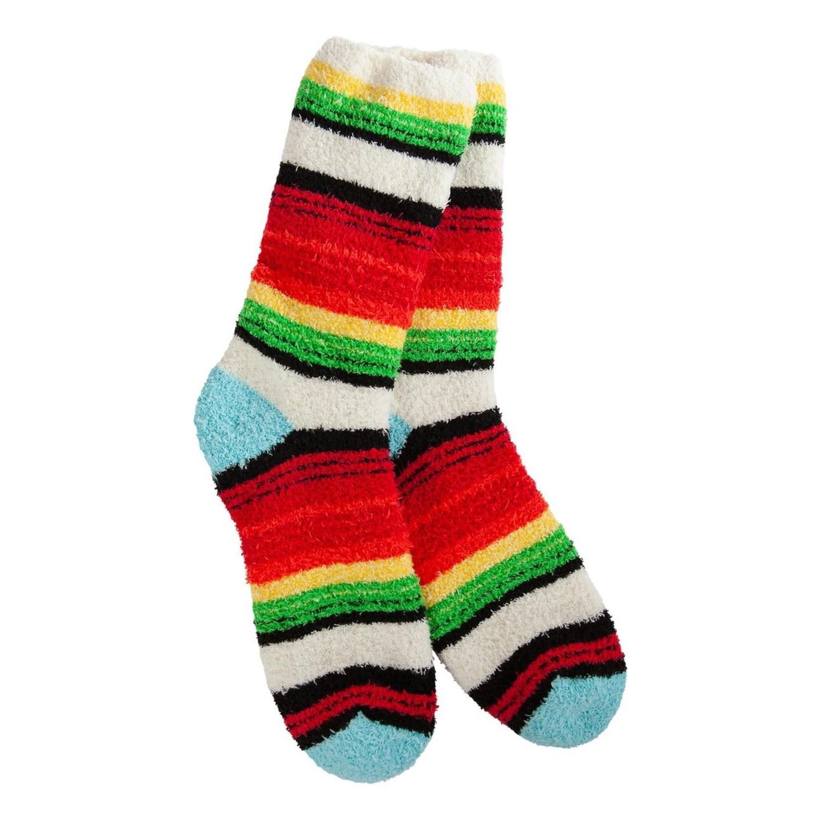 World's Softest Knit Pickin' Fireside Crew Socks- Santa Fe