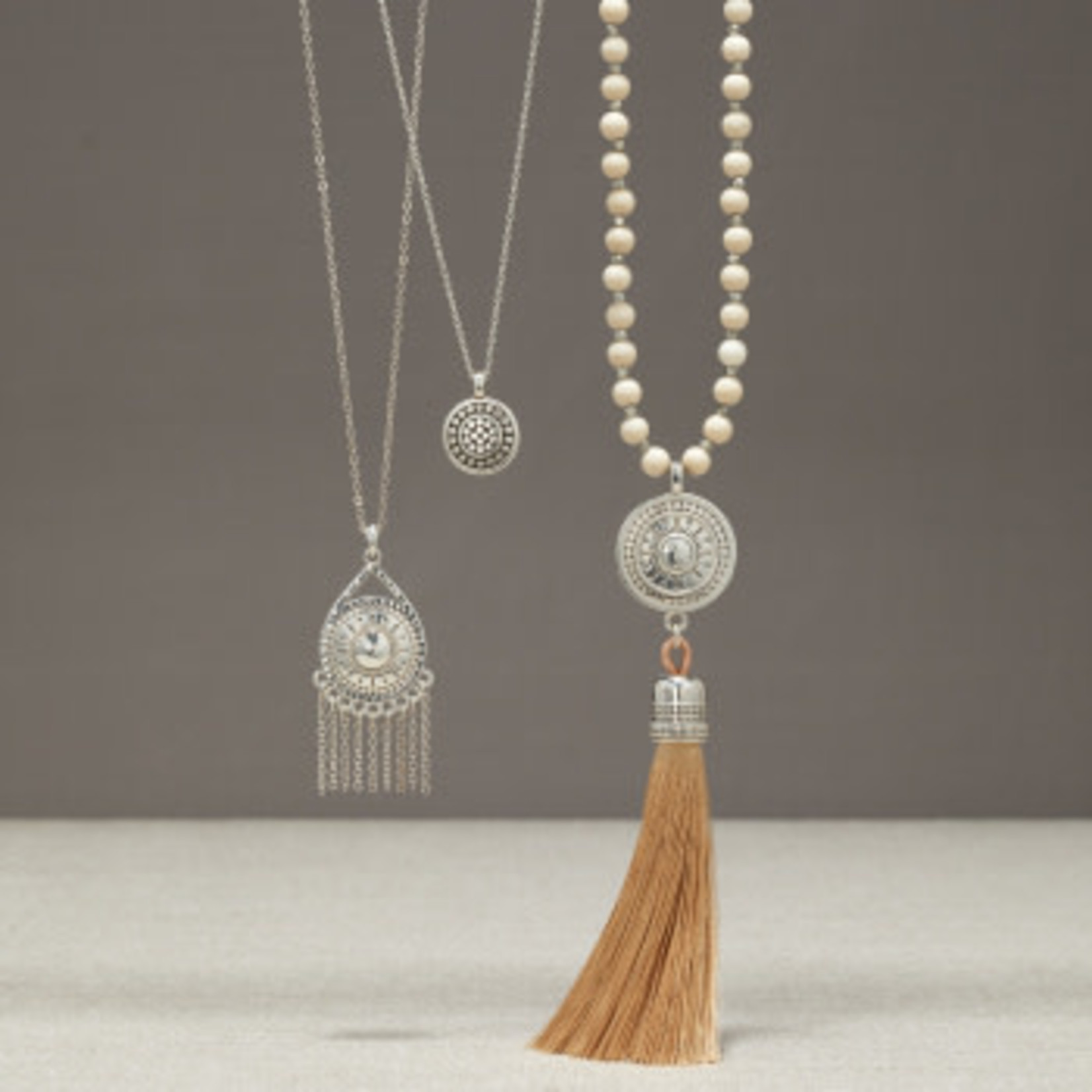 Brighton Marrakesh Neutral Fringe Necklace