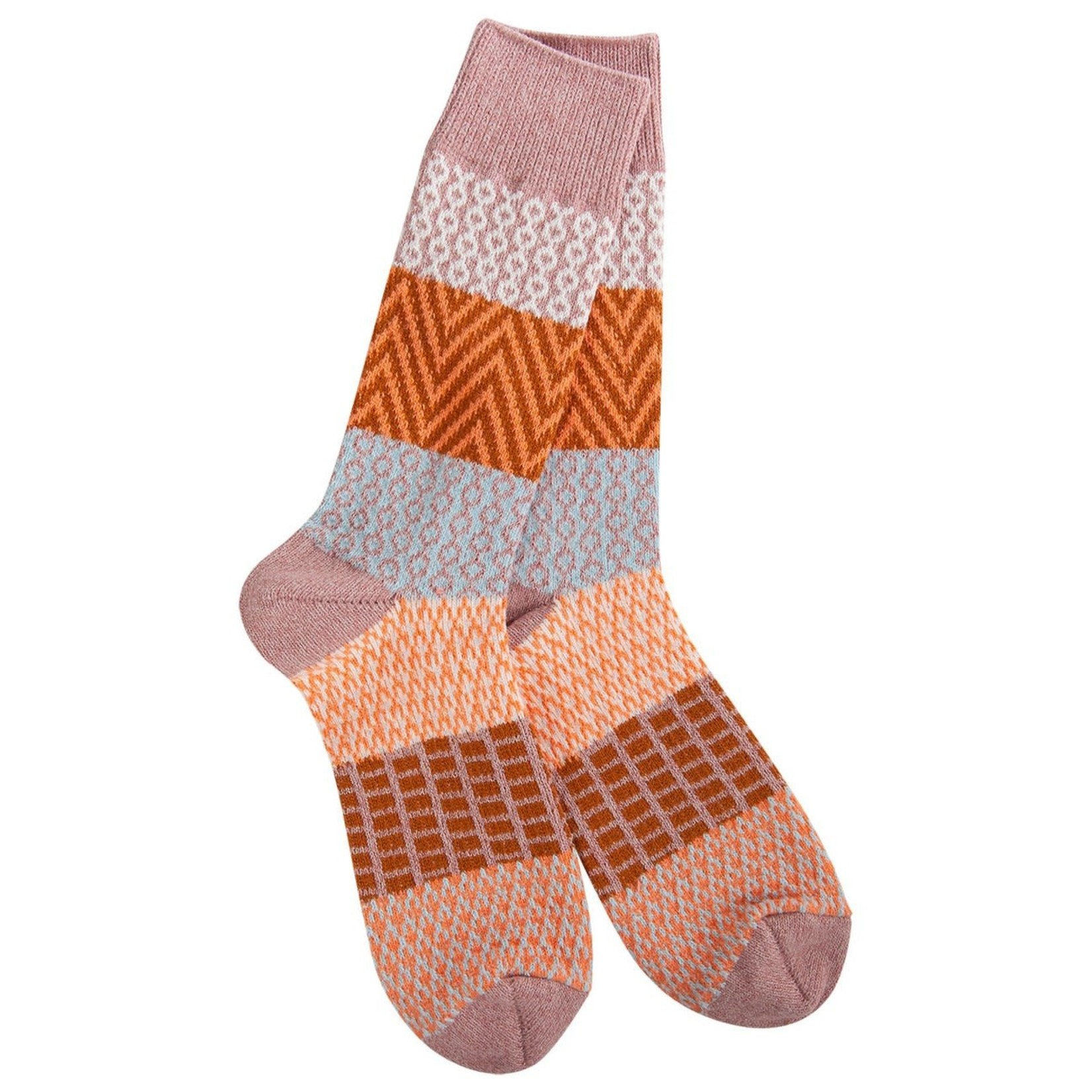 World's Softest Weekend Gallery Crew Socks- Tranquility
