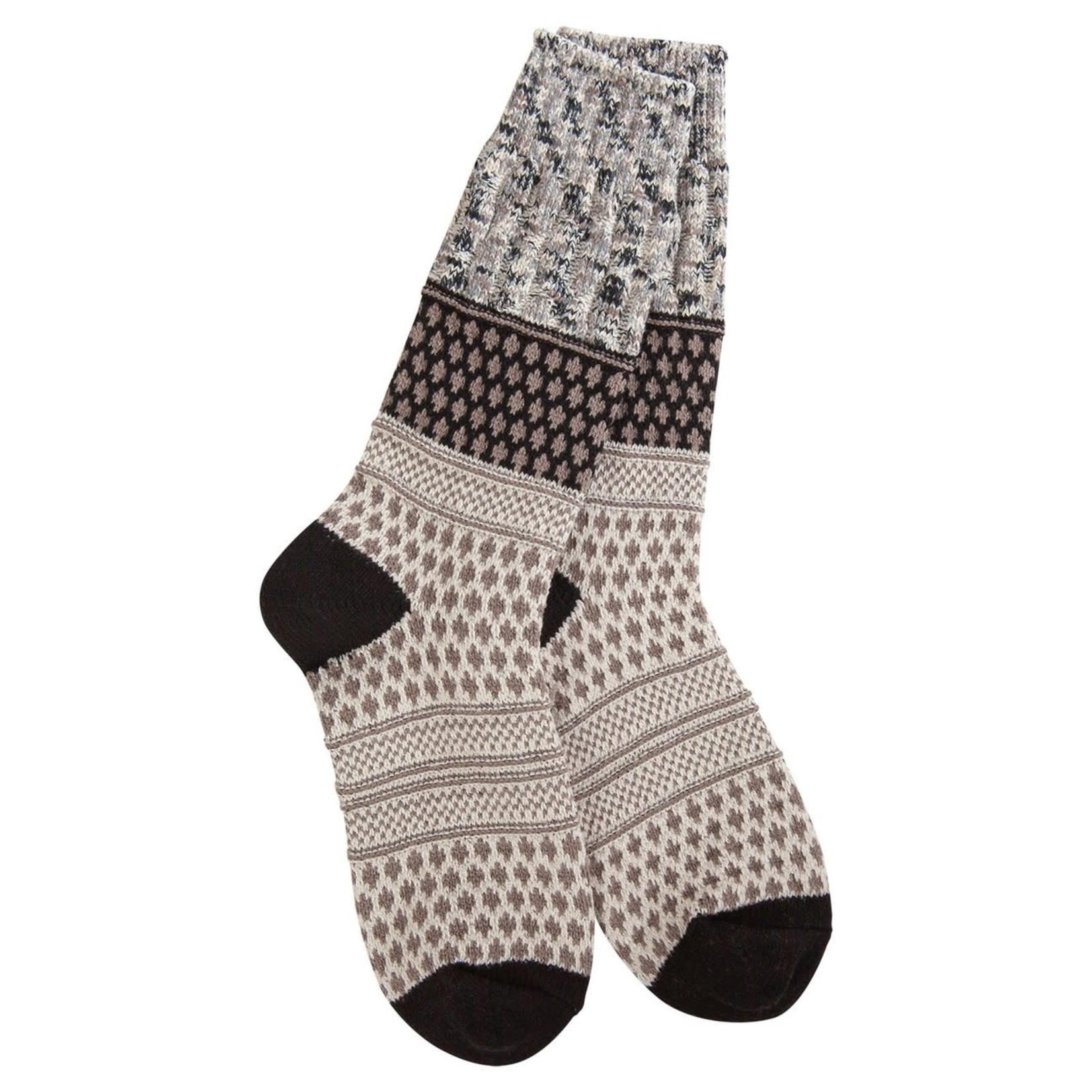 World's Softest Weekend Gallery Textured Crew Socks- Oatmeal Confetti