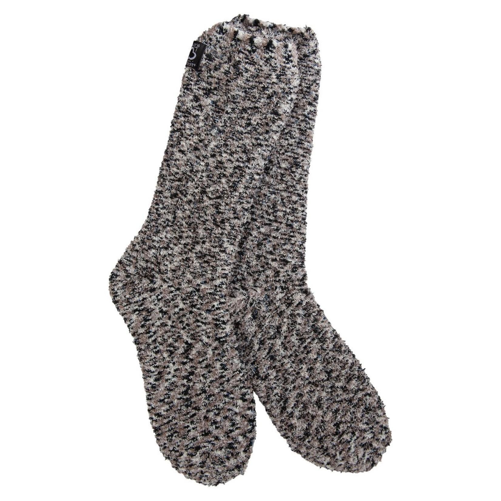 World's Softest Weekend Boucle Crew Sock - Black