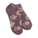 World's Softest Cozy Low Socks - Puppy Print