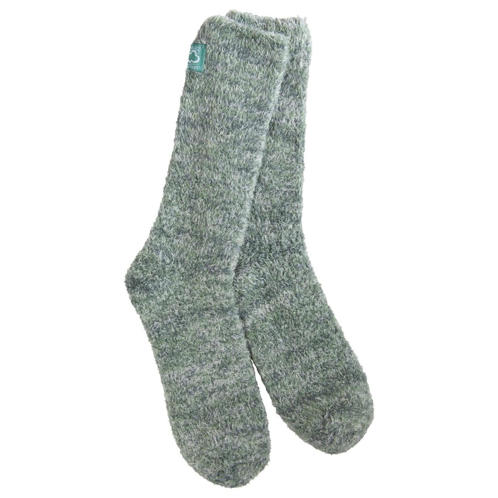 World's Softest Cozy Luxie Crew Socks- Jadeite