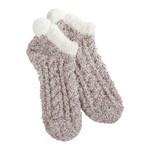 World's Softest Cozy Pom Low Socks - Cocoa