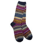World's Softest Weekend Studio Crew Socks - Oxford Blue