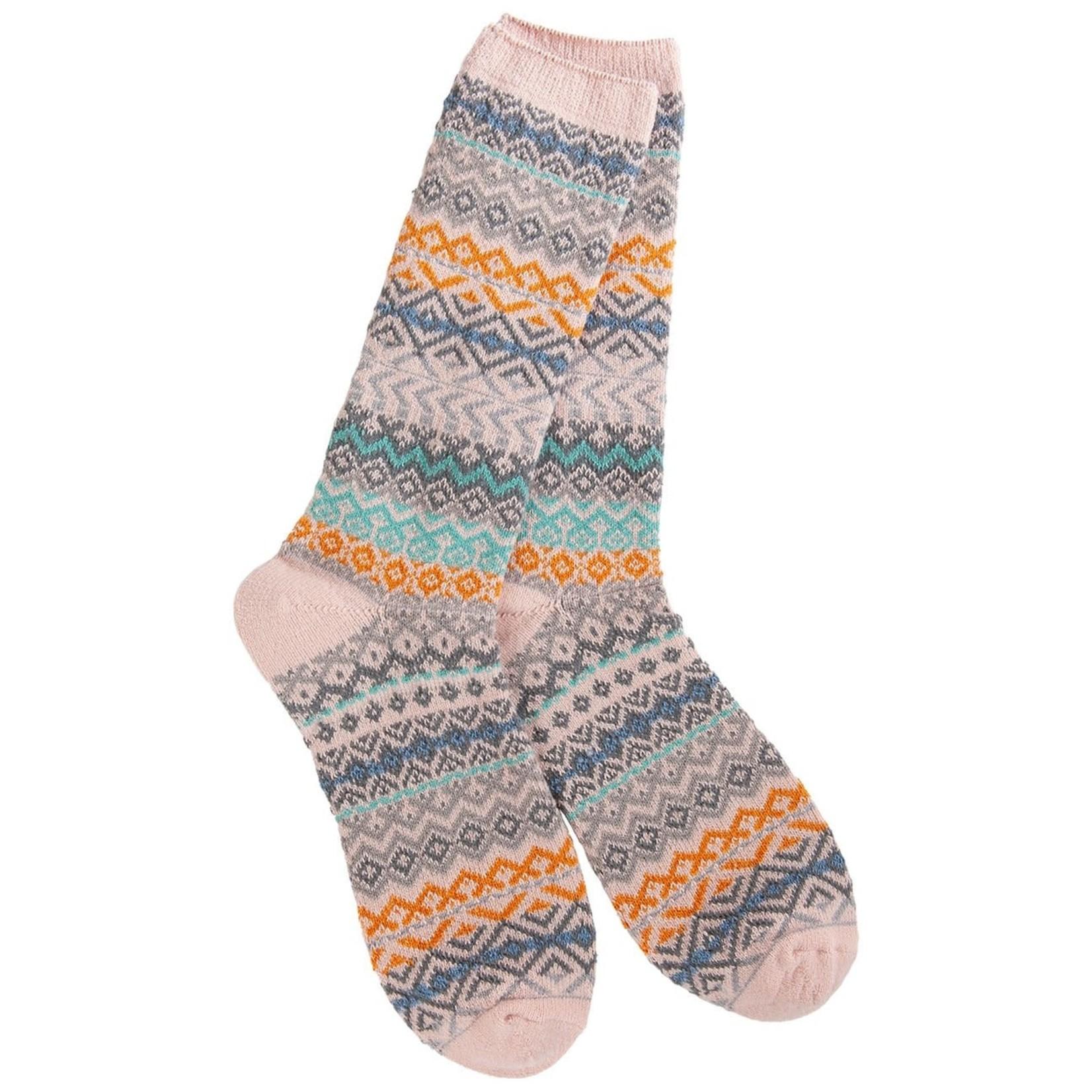 World's Softest Weekend Studio Crew Socks - Phoenix Sand