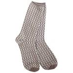 World's Softest Weekend Gallery Swirl Crew Socks - Warm Grey