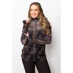 Sno Skin Plush Fleece Hi-Lo Pullover Top in Cheetah