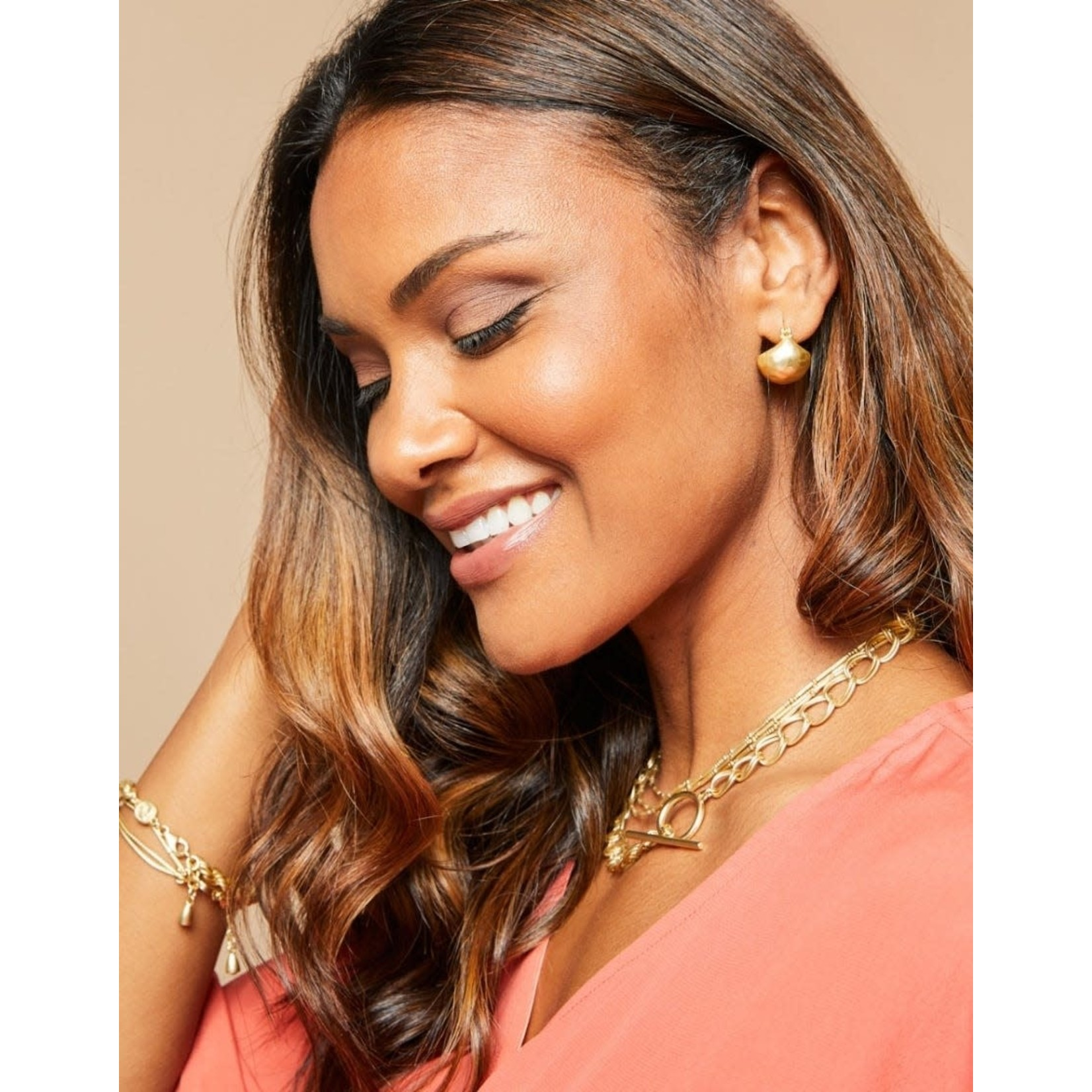 Spartina Bucket Earrings in Gold
