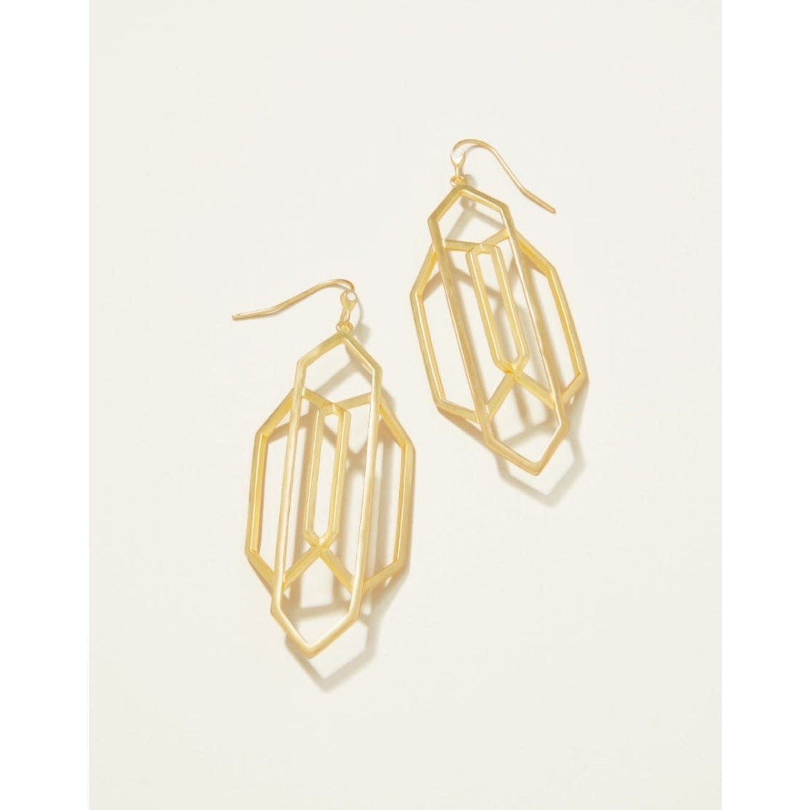 Spartina Art Deco Earrings in Gold