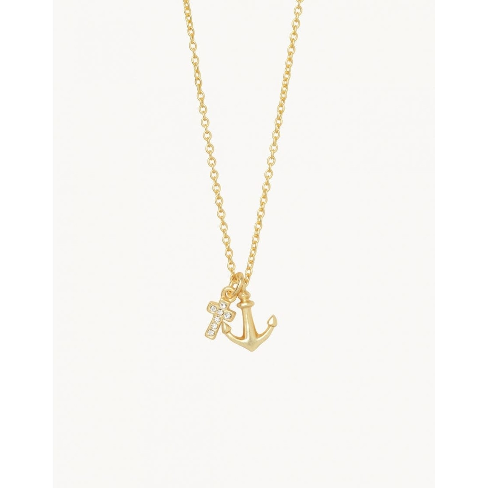 Spartina Sea La Vie It Is Well Cross Anchor Necklace