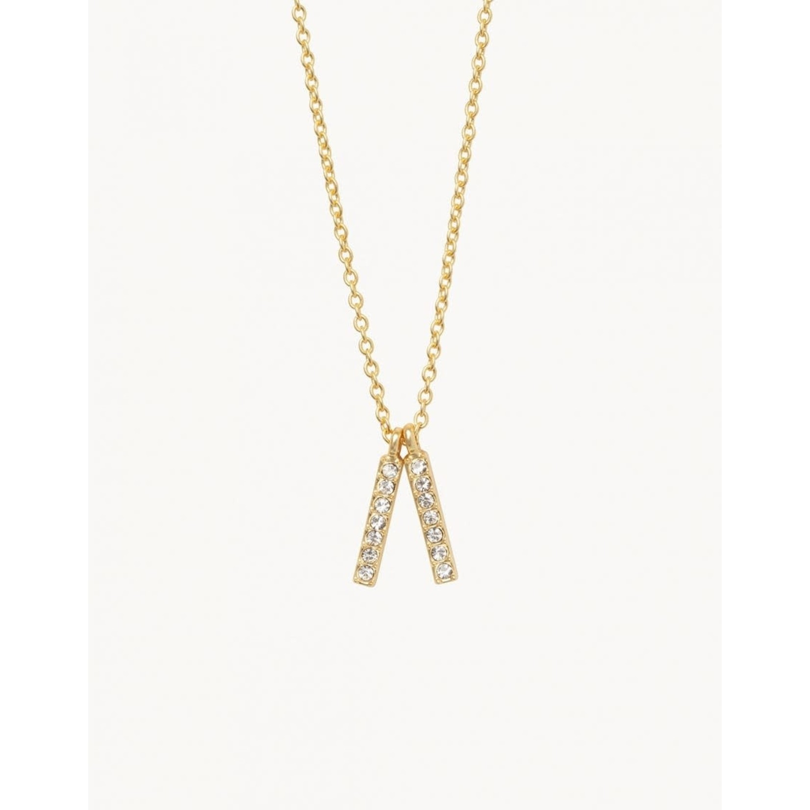 Spartina Sea La Vie Lean On Me Double Bars Necklace Gold