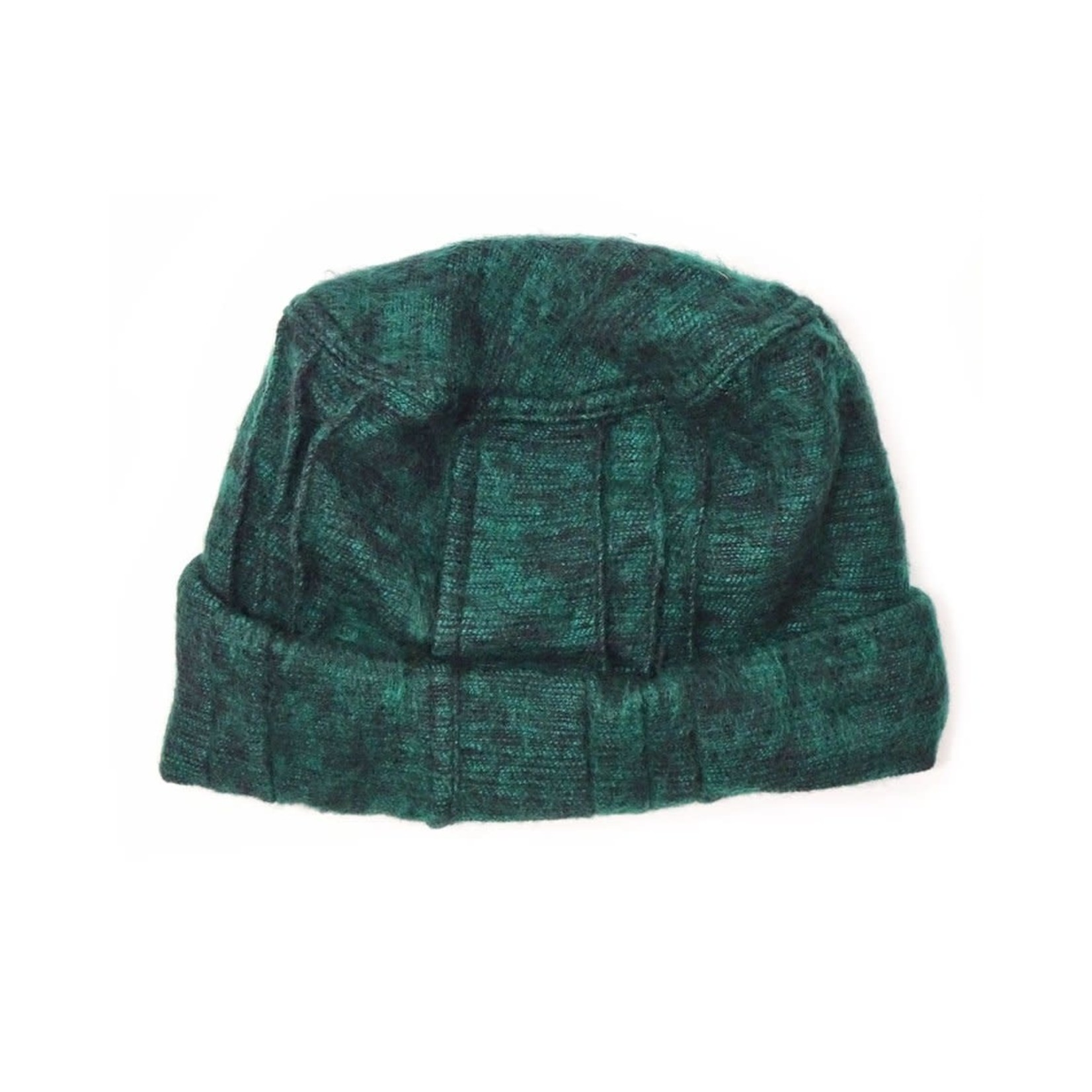 Zig Zag Asian Brushed Woven Pashtun Hat in Forest