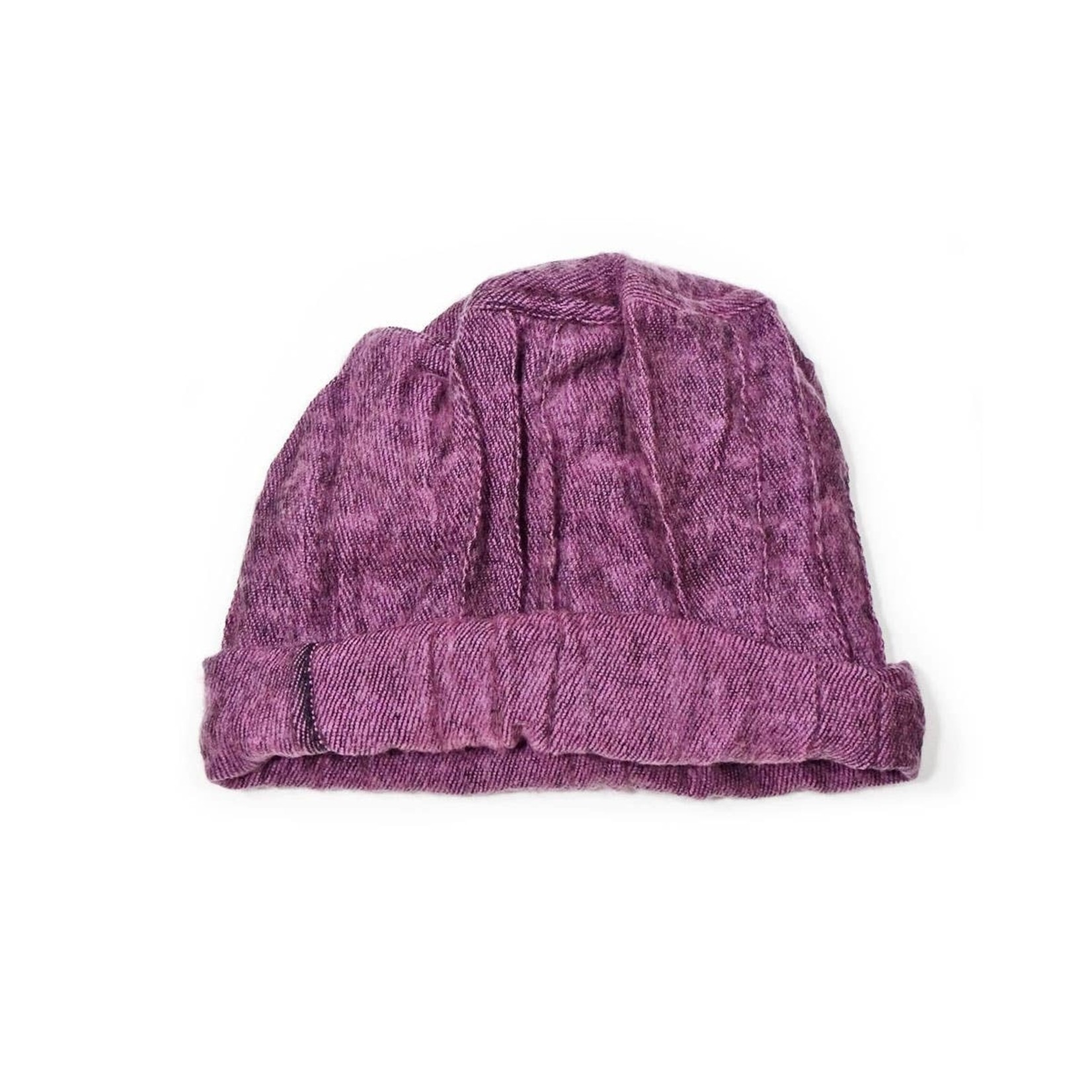 Zig Zag Asian Brushed Woven Pashtun Hat in Lilac