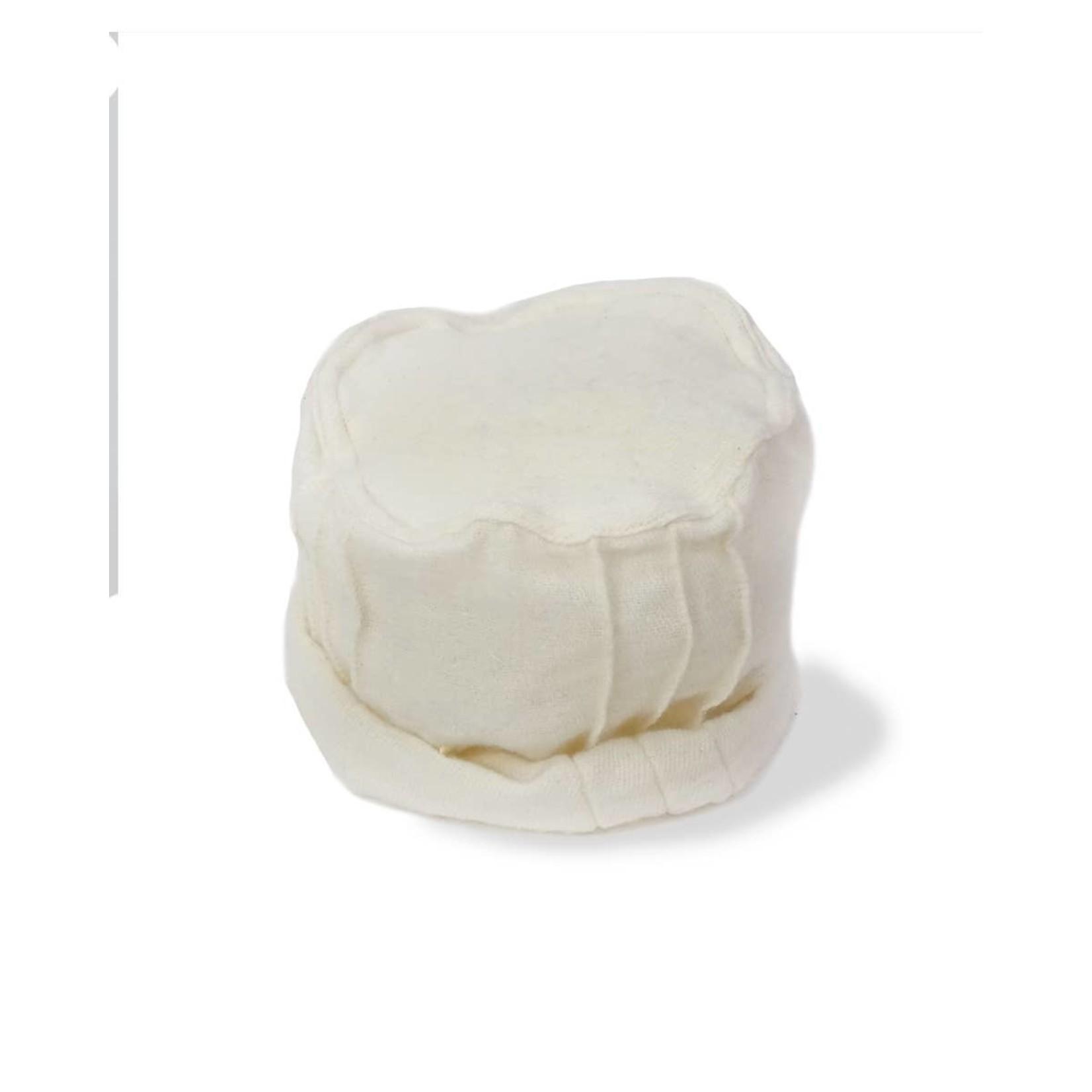 Zig Zag Asian Brushed Woven Pashtun Hat in White