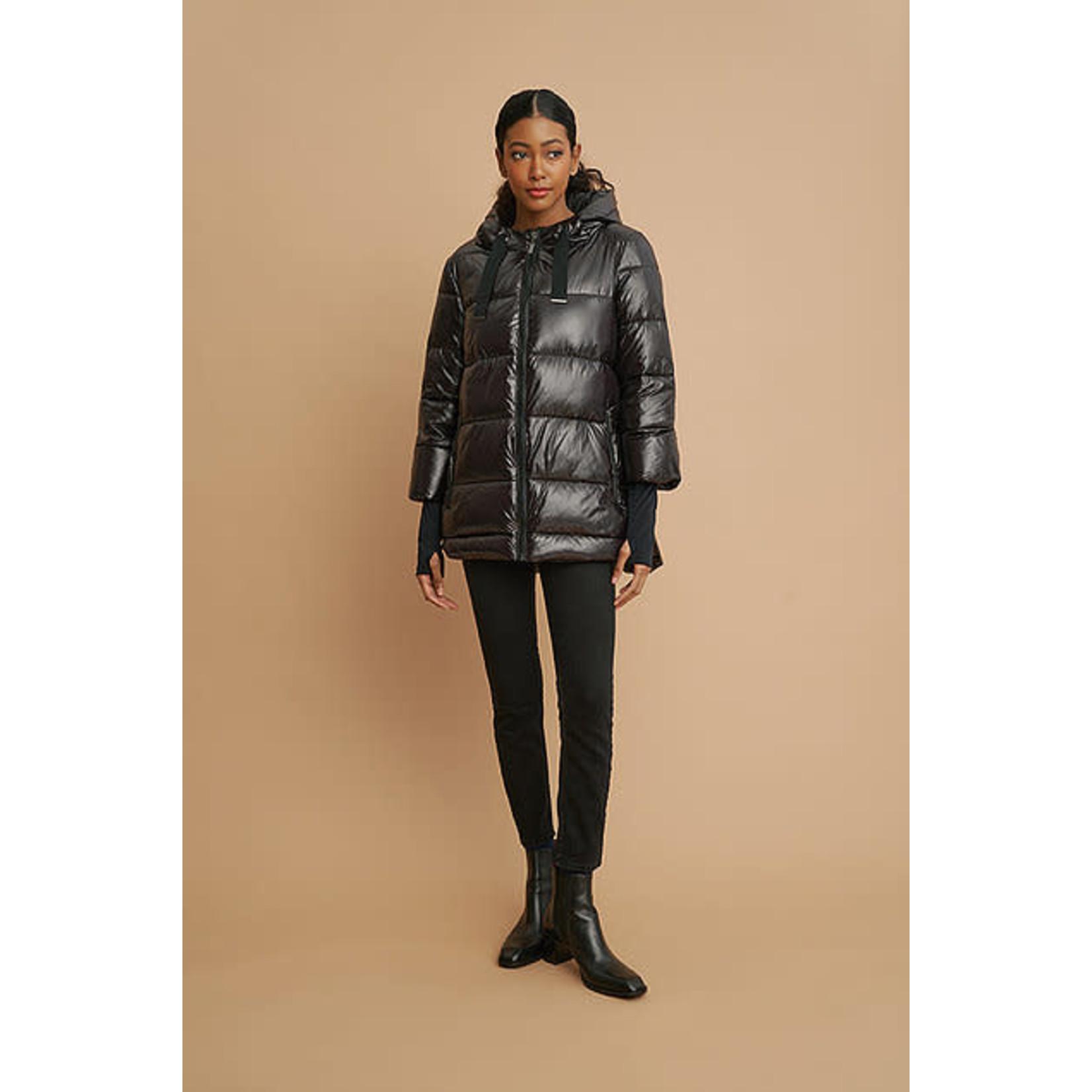 Nina Puffy Coat in Black