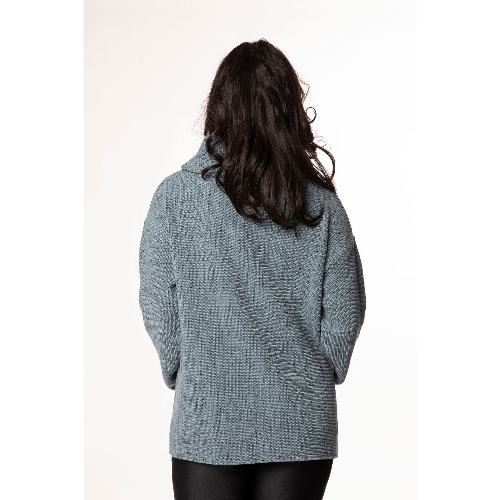 Margaret Winters Cowl Neck Sweater in Rain