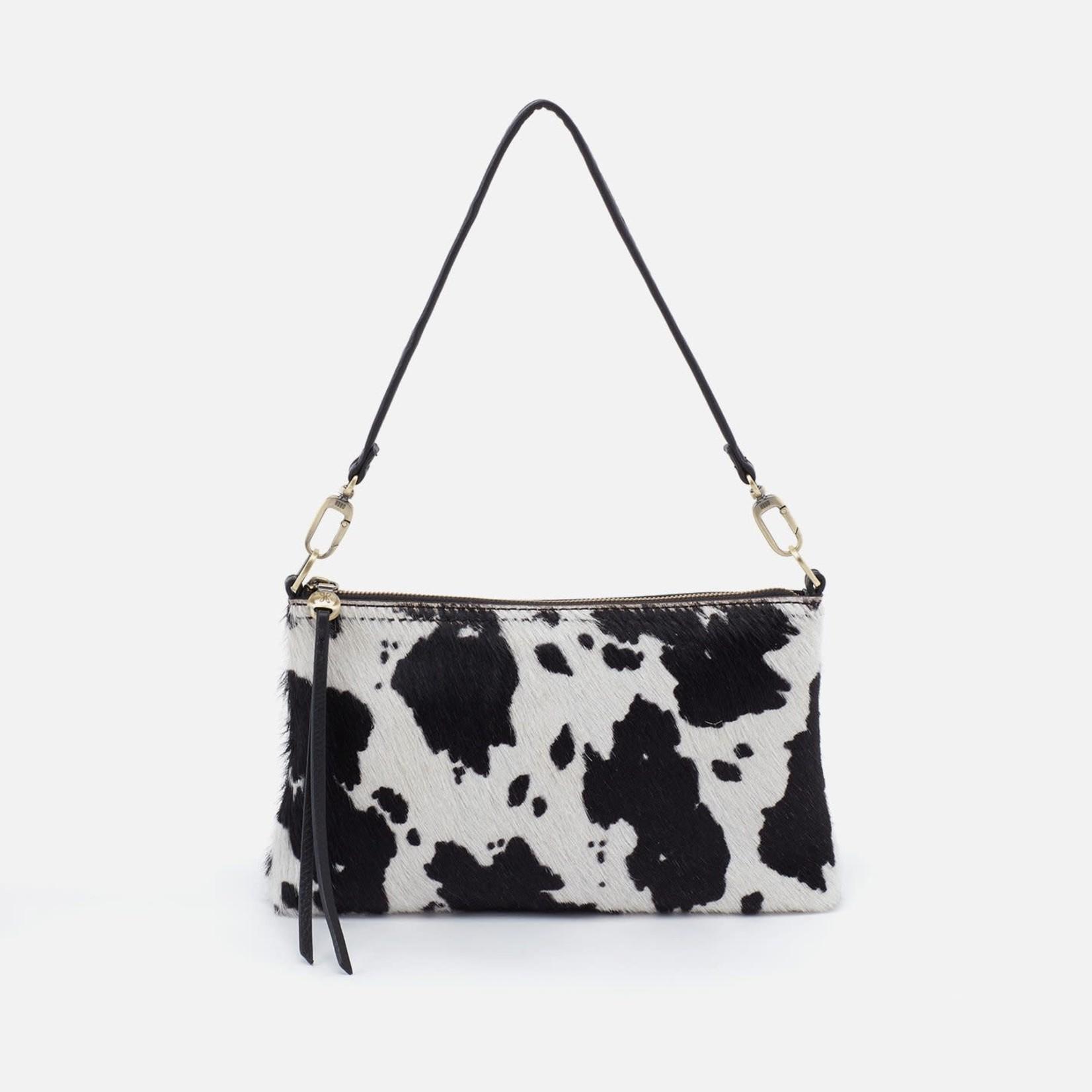 HOBO Darcy Cow Blk/Wht Leather Wristlet/Crossbody
