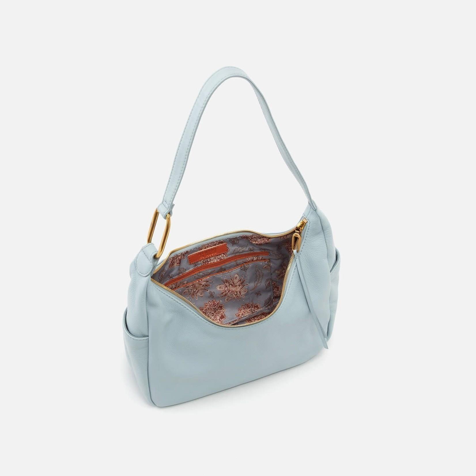 HOBO Fielder Pale Blue Pebbled Leather Shoulder Bag