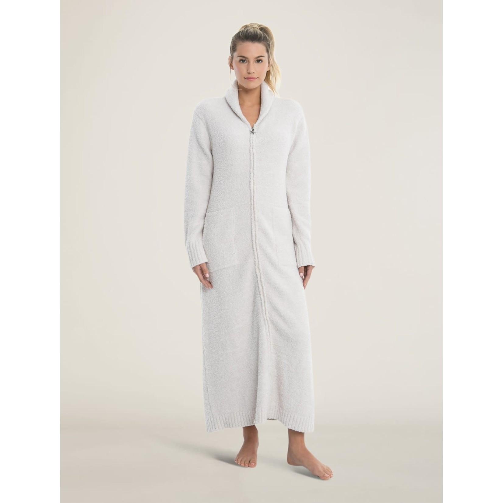 Barefoot Dreams CozyChic Full Zip Robe in Almond