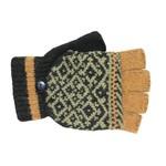 Jeanne Simmons Fingerless Glove w/ Mitten Cap in Mustard/Blk Multi