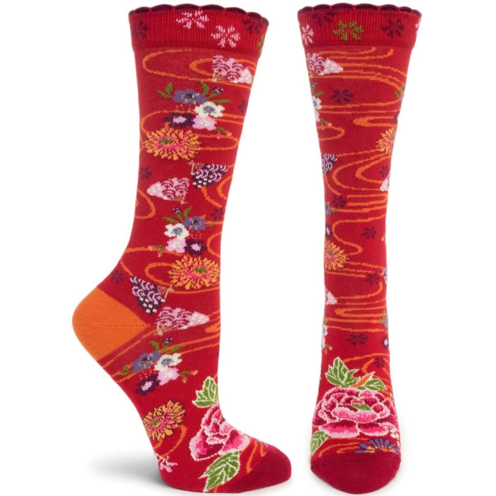 Ozone Socks Lotus Fans Socks in Red