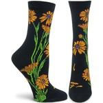 Ozone Socks Apothecary Floral Marigolds Socks in Black
