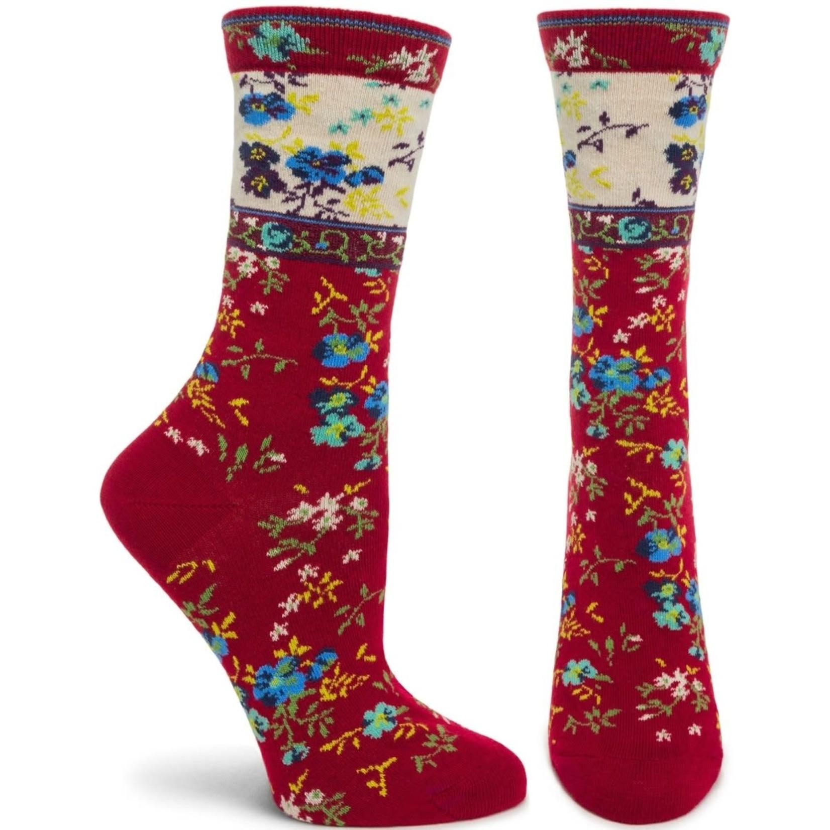 Ozone Socks Mona Linen Socks in Wine