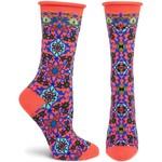 Ozone Socks Ornate Allure Socks in Coral