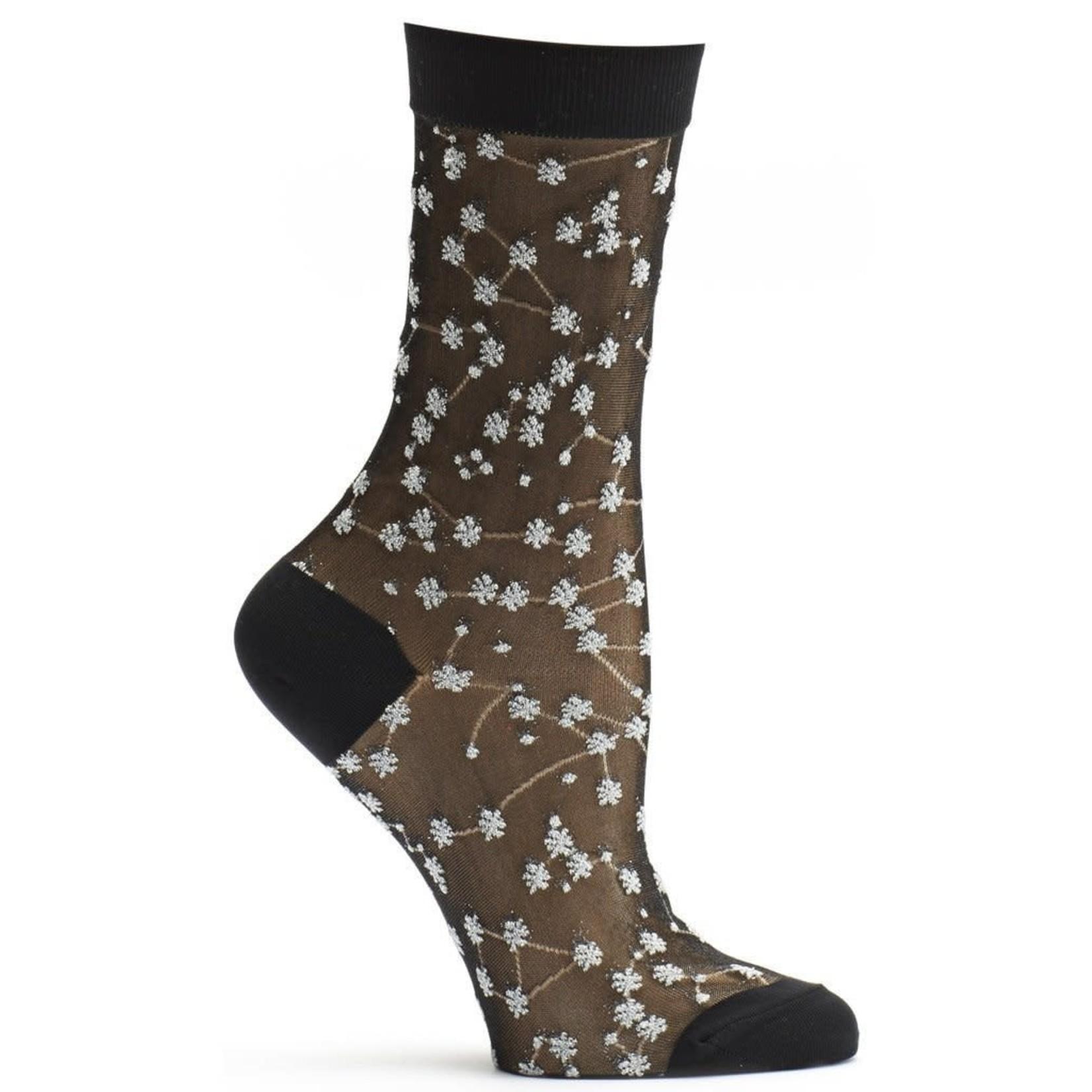 Ozone Socks Sheer Zodiac Socks in Silver