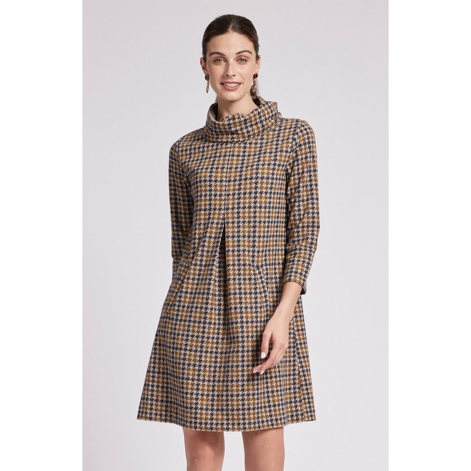 Tyler Boe Kim Jacquard Knit Dress in Houndstooth