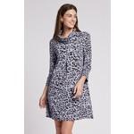 Tyler Boe Kim Jacquard Knit Dress in Thistle  Cheetah
