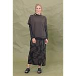Chalet et ceci Renela Print Skirt w/ Zipper Detail in Pinecone