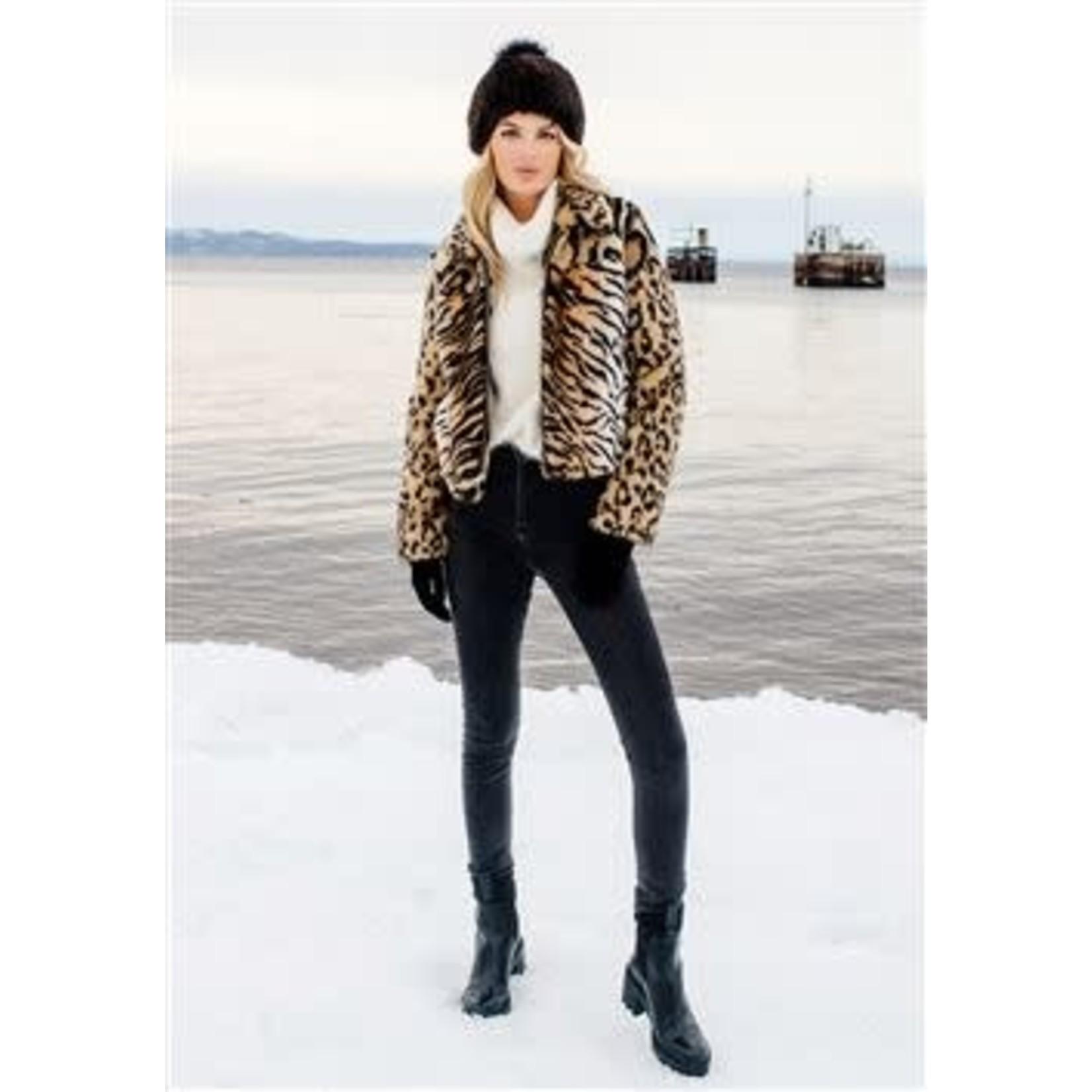 Fabulous Furs Remix Jacket in Multi Animal