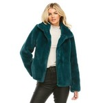 Fabulous Furs Every Day Faux Mink Jacket in Teal