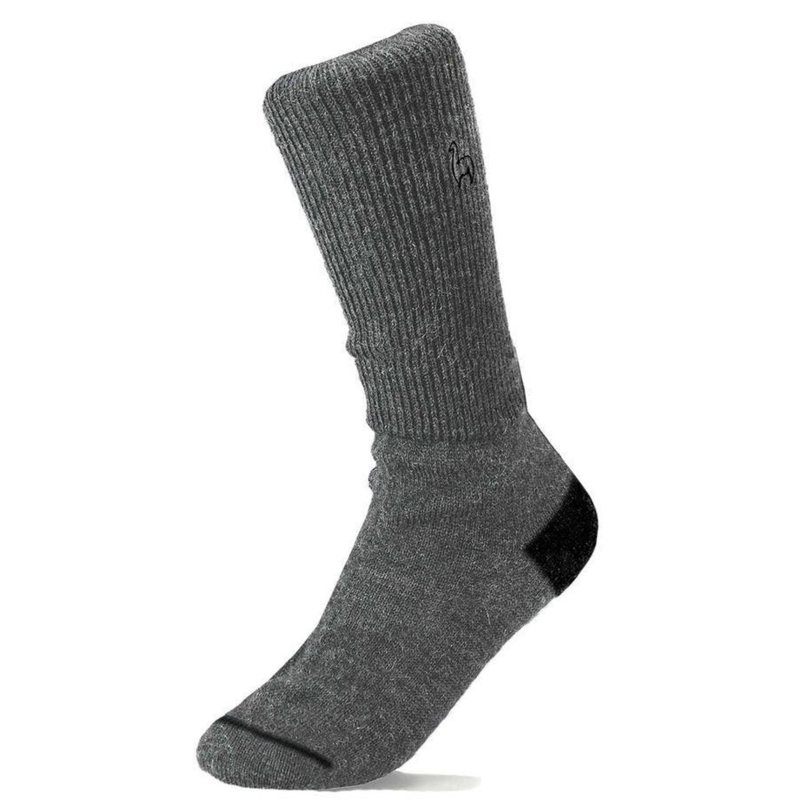 Alpaca Business Socks in Charcoal Sml