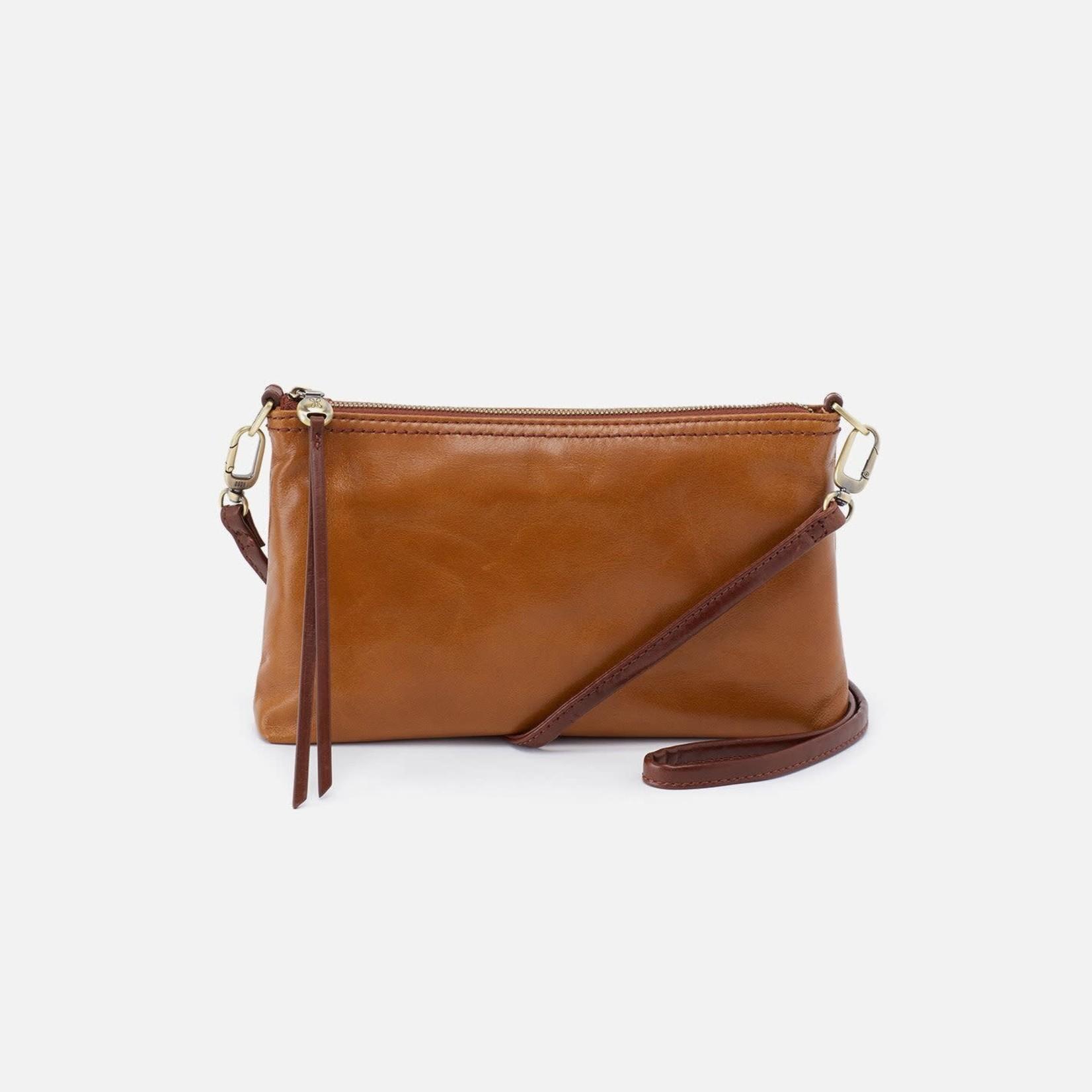 HOBO Darcy Truffle Vintage Hide Leather Wristlet/Crossbody